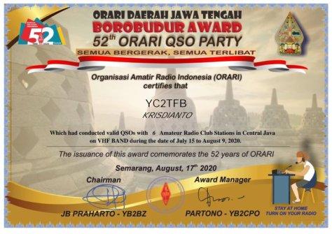 BOROBUDUR AWARD 52th ORARI PARTY